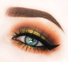 Instagram Makeup Dairy 3 Gold and Green Autumn Look