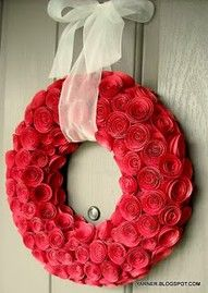 This would be a wonderful wreath for valentines day!