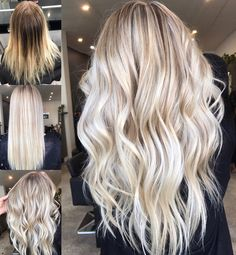 Hair inspiration ✔️ Instagram @hairbykaitlinjade Blonde balayage, long hair, cool girl hair ✌️ Lived in hair colour Blonde bronde brunette golden tones Balayage face framing blonde Textured curls http://shedonteversleep.tumblr.com/post/157435263418/more