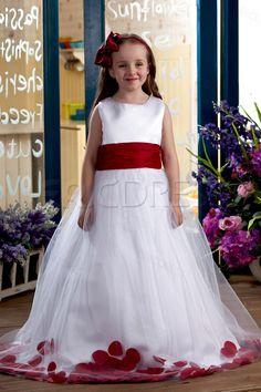 Elegant Ball Gown Ankle-length Bateau Appliques Flower Girl Dress, find more flower girl dress for your wedding. ericdress.com