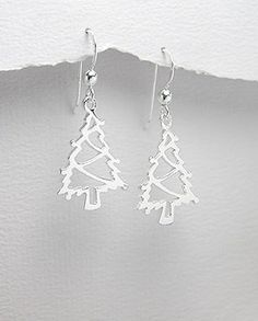 Sterling Silver Christmas Tree Earrings £17