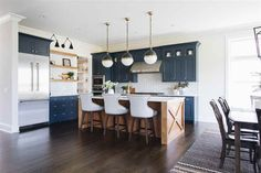 Best 50 Blue Kitchens - That you Need to See Blue Farmhouse Kitchen Blue Farmhouse Kitchen with wood kitchen island all details and sources on Home Bunch Blue Farmhouse Kitchen Blue Farmhouse KitchenBest Friend Best Friend or Best Friends may refer to: Wood Kitchen Cabinets, Kitchen Remodel, Country Kitchen Farmhouse, Country Kitchen, Home Decor Kitchen, Rustic Farmhouse Kitchen, Kitchen Interior, Interior Design Kitchen, Kitchen Style
