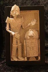 C-3PO and R-2D2 book sculpture (artist: Jodi Harvey-Brown) #tlchat #tlelem #nctlchat