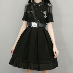 Your Highness -The Vow- 2019 Version Military Lolita OP Dress,Lolita Dresses, Kawaii Fashion, Cute Fashion, Look Fashion, Girl Fashion, Fashion Outfits, Style Indie, Style Grunge, Soft Grunge, Pretty Outfits