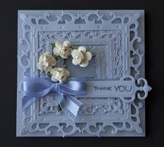 Light Blue Filagree Thank You