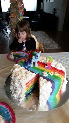 My little pony taart voor Eva's 3e verjaardag