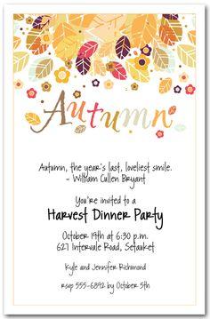 Block party invitation neighborhood block party pinterest autumn fall invitations autumn season invitation stopboris Image collections