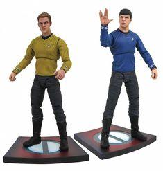 Kirk & Spock Star Trek Into Darkness Select Action Figures 18 cm Series 1 New Star Trek, Star Trek Into Darkness, Spock, Wallpaper Star Trek, United Federation Of Planets, Star Trek Images, Star Trek Collectibles, Video Clips, Star Trek