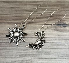 A personal favorite from my Etsy shop https://www.etsy.com/listing/205047760/sun-and-moon-charm-dangle-earrings-sun