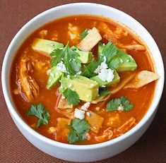 New Mexico Turkey Tortilla Soup by inspired2cook: Great for leftover turkey!  #Soup #Turkey_Tortilla