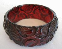 Cherry Applejuice Bakelite Bangle