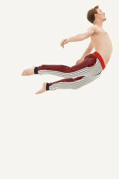 Petit Bateau x Cédric Charlier men's trousers, with contrasting white, red and blue stripes. - http://www.petit-bateau.fr/?CMP=SOC_11732&SOU=&TYP=SOC&KW=pinterest #petitbateau #cedriccharlier #trousers