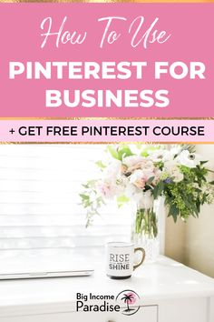 Do you know how to use Pinterest for your business and drive traffic to your blog? Check these best Pinterest marketing tips from Big Income Paradise. Learn how to grow your blog traffic and business. Create an effective Pinterest marketing strategy that will help you grow your business. You will also get a Free Pinterest Marketing Course that will teach you how to get massive traffic from Pinterest. Business Marketing, Social Media Marketing, Make Real Money, Business Checks, Pinterest For Business, Do It Right, Growing Your Business, Pinterest Marketing, Being Used