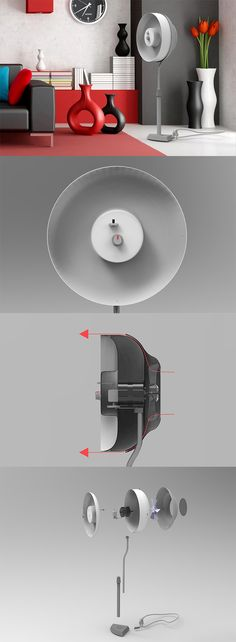 The 'COANDAIR' fan is designed to blow a jet of air in all horizontal directions, instead of shooting away straight, the air follows the curved surface to circulate in the home... READ MORE at Yanko Design !