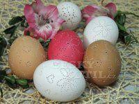 Dírkovaná vejce Dremel, Origami, Eggs, Easter, Easter Activities, Origami Paper, Egg, Origami Art, Egg As Food
