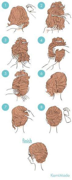 Não sabe como fazer um penteado sozinha? Seus problemas acabaram. Esse tutorial facilita a vida de quem gosta de uma arrumação diferente dos fios.
