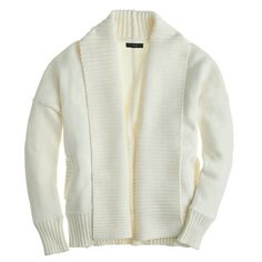 Chunky trim open cardigan sweater | J.Crew