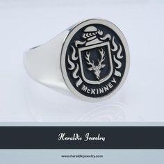 McKinney silver family crest ring