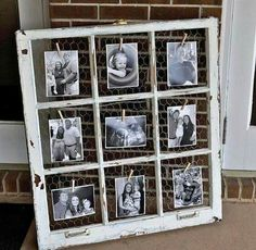 Love this idea w/old window