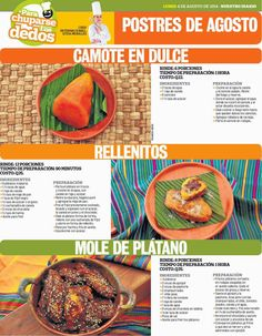 Cocinas y Recetas: Postres agostinos. Rellenitos de plátano, camote en dulce.