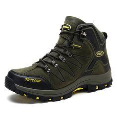 0c543fee7 High Top Heighten Hiking Shoes for Men Taller 3.2Inch   8cm Green Height  Increasing Trekking