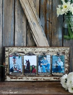 Repurposed vintage kitchen graters photo display - KnickofTime.net