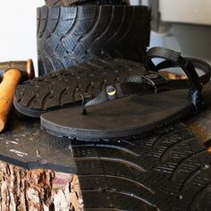 After months of testing these recycled tire tread prototypes, we are super excited to launch these babies soon! Stay tuned for updates. Tyres Recycle, Recycled Tires, Tire Art, Tire Tread, Old Tires, Cycle Chic, Felted Slippers, Survival Skills, Huaraches