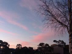 Sunset! Beautiful pink clouds