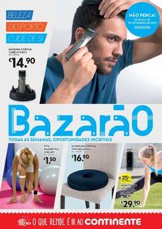 Folheto Continente Bazarão em vigor de 21 a 27 de Fevereiro Beleza desporto cuide de si. #Promoções #Continente