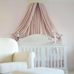 Sometimes just a beautiful pink drape says it all. #nursery #baby #girl #crib #glider #wallcrown