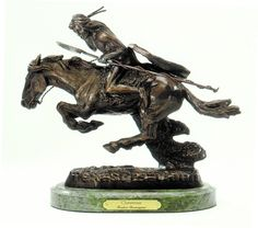 Frederic Remington Bronze The Savage Real ~100/% Bronze~ Indian Warrior Office