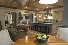 Subtle shifts in texture throughout an inviting kitchen area, created by Greg Baudoin of Memphis