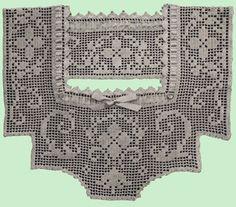 Heirloom Crochet - Vintage Filet Crochet - Ann Orr Gown Yokes