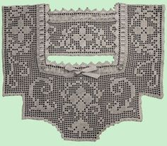 Heirloom Crochet - Vintage Filet Crochet - Ann Orr Gown Yokes
