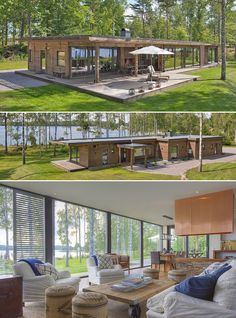 House Plans & Home Plans House Plans & House Designs is part of House design - House Plans in Modern Architecture Modern House Plans, Modern House Design, Modern Lake House, Prefab Homes, Prefab Tiny Houses, Future House, Architecture Design, Sustainable Architecture, Building A House