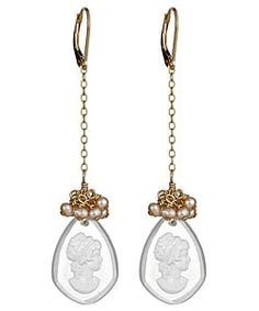 Sophia and Chloe Cameo Earrings