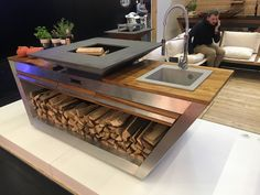 Jerry Can Mini Bar, Barbecue Design, Weathering Steel, Fake Fireplace, Cnc Plasma, Outdoor Cooking, Welding, Fireplaces, Outdoor Living