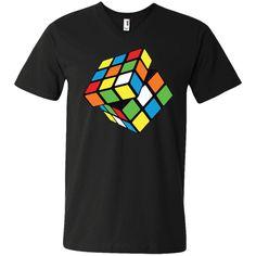 Spinning Rubix Cube Men's V-Neck T-Shirt