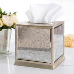 Madam Paris Tissue Box Cover wooden handmade