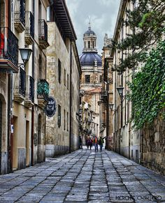 The streets of Salamanca, Spain- going here tomorrow for the weekend! Places Around The World, Oh The Places You'll Go, Great Places, Places To Visit, Around The Worlds, Need A Vacation, Vacation Trips, Madrid, Street Art