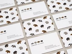 Kaori Drome designed these business cards for Harlow and Sage, the adorable dogs belonged to Brittni Vega, who is a pet photographer and a social media influencer. Pet Branding, Branding Design, Identity Branding, Stationery Design, Visual Identity, Cool Business Cards, Creative Business, Name Card Design, Business Card Design Inspiration
