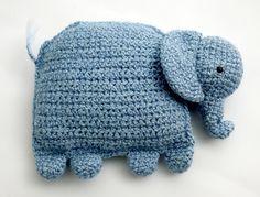 Amigurumi Elephant Pillow Pattern (Crochet)