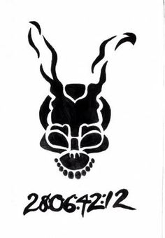 donnie darko frank tattoo design blackwork gabstattooart art pinterest donnie darko frank. Black Bedroom Furniture Sets. Home Design Ideas
