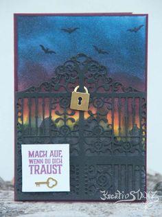 KreativStanz Stempelset Nacht der offenen Tür und Thinlits Ziertor von Stampin' Up! #stampinup #halloween http://kreativstanz.bastelblogs.de/