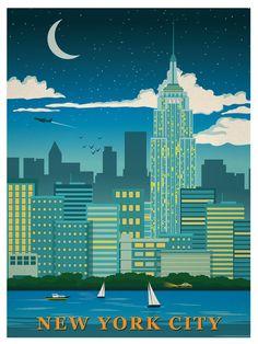 Image of Vintage NYC Print Night