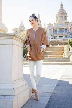 Front Roe by Louise Roe | How To Layer Leather in Spring | Cold Shoulder Top