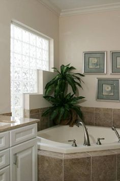 need this type of window for privacy in master bedroom bathroom....... Glass Block Bathroom Windows - windows - cleveland - Innovate Building Solutions