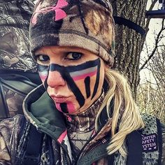 Now this is what we call some fancy face paint! :two_hearts: #Repost @healthy_huntress with @repostapp ・・・ When your husband says you have to wear face paint and you let him do it......My face instantly turned into a canvas lol Happy Hunting!!