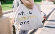 Tote bag design by Cast Iron for seasonal meal advisor Huckle & Goose