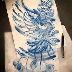 By Zimmo Lu. Toronto based tattoo artist. Instagram: zimmomomo_tattoo#phoenix #backtattoo #design for Stuart! #phoenixtattoo #tattoodesign #tattoo #torontotattoo #tattooartist #torontotattooartist #torontotattooshop #toronto #yyz #guyswithtattoos #illustrativetattoo #asiantattoo #drawing #sketch #art #inked #art_collective #art_gate #artistic_nation #evolvedmagazine #beautifulbizzare #juxtapoz #creepycreative #creativeuprising